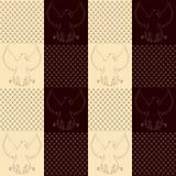 Eagle rocznika bezszwowa tekstura Obraz Royalty Free