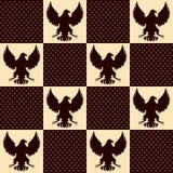 Eagle rocznika bezszwowa tekstura Fotografia Royalty Free