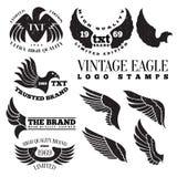 Eagle rocznika loga znaczki Zdjęcia Royalty Free
