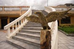 Eagle schnitzte aus Holz heraus Stockfotografie