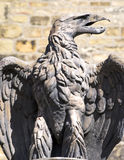 Eagle sculpture. With spread wings made of stone Stock Images
