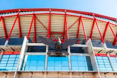 Eagle sculpture detail of Benfica Stadium in Lisbon. Royalty Free Stock Photo