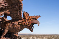 Eagle sculpture in Galleta Meadows Royalty Free Stock Photos