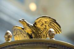 Eagle Sculpture i Utah statKapitolium Arkivbild