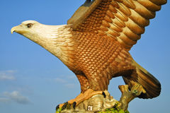Eagle sculpture in Kuah town, Langkawi, Malaysia Royalty Free Stock Photo