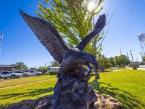 Eagle sculpture at Route66 in Oklahoma - STROUD - OKLAHOMA - OCTOBER 16, 2017 Royalty Free Stock Photos
