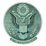 Eagle seal from dollar bill Stock Photo