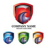 Eagle Shield Concept Logo Design vector illustratie