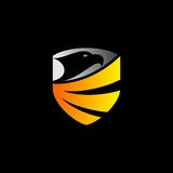 Eagle shield vector logo. Vector logo for eagle shield Royalty Free Stock Image