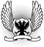 Eagle shield with wings up Stock Images
