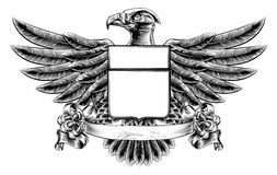 Eagle Shield Woodblock Fotografía de archivo