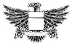 Eagle Shield Woodblock Stock Photography