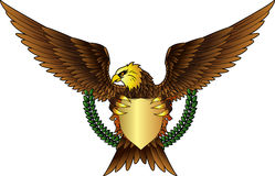 Eagle with shield for you design Stock Photo