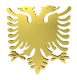 Eagle sign, with two heads, isolated on white. With clipping path, 3d illustration Stock Photos