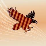 Eagle Silhouette Fotografie Stock Libere da Diritti