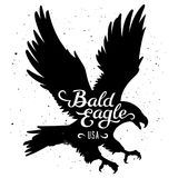 Eagle silhouette 002 royalty free illustration