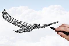 Eagle Sketch imagens de stock