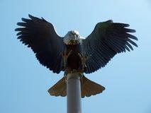 Eagle skulptur Arkivbild