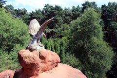 Eagle skulptur i Kislovodsk Arkivfoto