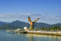Eagle-Skulptur in Kuah-Stadt, Langkawi, Malaysia Lizenzfreie Stockfotografie