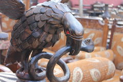 eagle and a snake Stock Photo