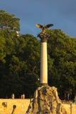 Eagle sobre a coluna do monumento aos navios inundados foto de stock royalty free