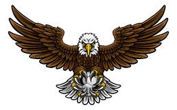 Eagle Soccer Football Mascot Stock Photography