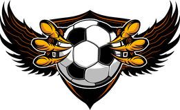 Eagle Soccer Talons and Claws Illustration Royalty Free Stock Images
