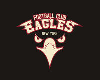 Eagle sport tee graphic.  Royalty Free Stock Images
