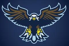 Eagle spreidt de vleugels uit stock illustratie