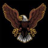 Eagle spreidt zijn vleugels uit stock illustratie