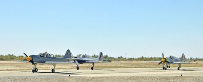 Eagle Squardon Taxiing To Hardstand rosso fotografie stock libere da diritti