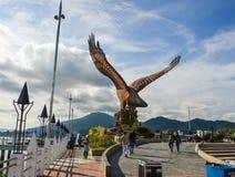 Eagle Square auf Langkawi-Insel stockfotografie