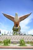 Eagle Square Statue el símbolo de la isla Malasia de Langkawi Imagen de archivo