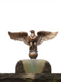 Eagle Statue. Statue of an eagle isolated against a white background Royalty Free Stock Photography