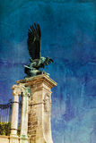 Eagle statue in Buda Palace in Budapest Hungary Royalty Free Stock Photography