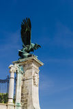Eagle statue in Buda Palace in Budapest Hungary Stock Images