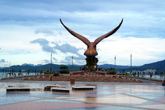 Eagle Statue at Eagle Square Langkawi Royalty Free Stock Photo