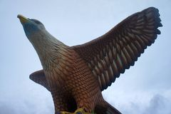 Eagle statue at Langkawi Stock Images