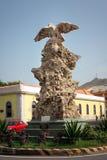 Eagle Statue Mindelo gränsmärke Arkivbilder