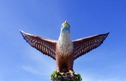 Eagle Statue, Symbol von Langkawi-Insel, Malaysia Lizenzfreies Stockfoto