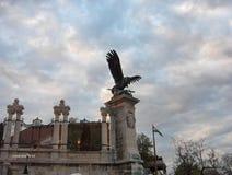 eagle-statue-turul-at-royal-palace Royalty Free Stock Photo