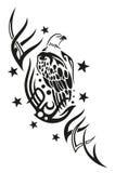 Eagle, stelle, tribali Immagine Stock