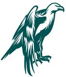 Eagle stiliserade symbol Royaltyfria Bilder