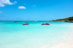 Eagle-Strand auf Aruba-Insel in den Karibischen Meeren Lizenzfreie Stockfotos