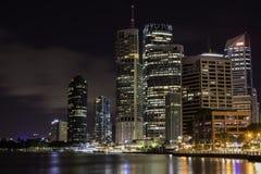 Eagle Street Pier alla notte Brisbane Australia Fotografia Stock