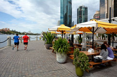 Eagle Street Pier in Brisbane Stock Images