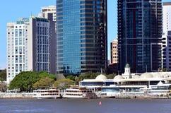 Eagle Street Pier in Brisbane Stock Photo