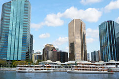 Eagle Street Pier in Brisbane Stock Photography