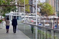 Eagle Street Pier en Brisbane Imagen de archivo libre de regalías